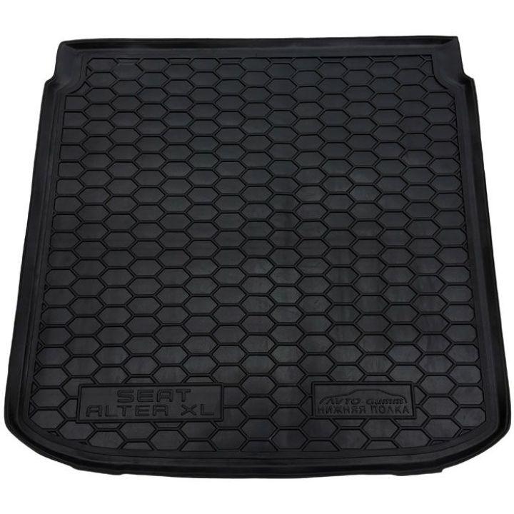 Коврик в багажник для Seat Altea XL 2007-2015 нижняя полка, полиуретановый (AVTO-Gumm)