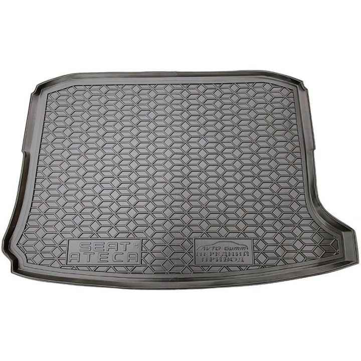 Коврик в багажник для Seat Ateca '17-, без органайзера, полиуретановый (AVTO-Gumm)