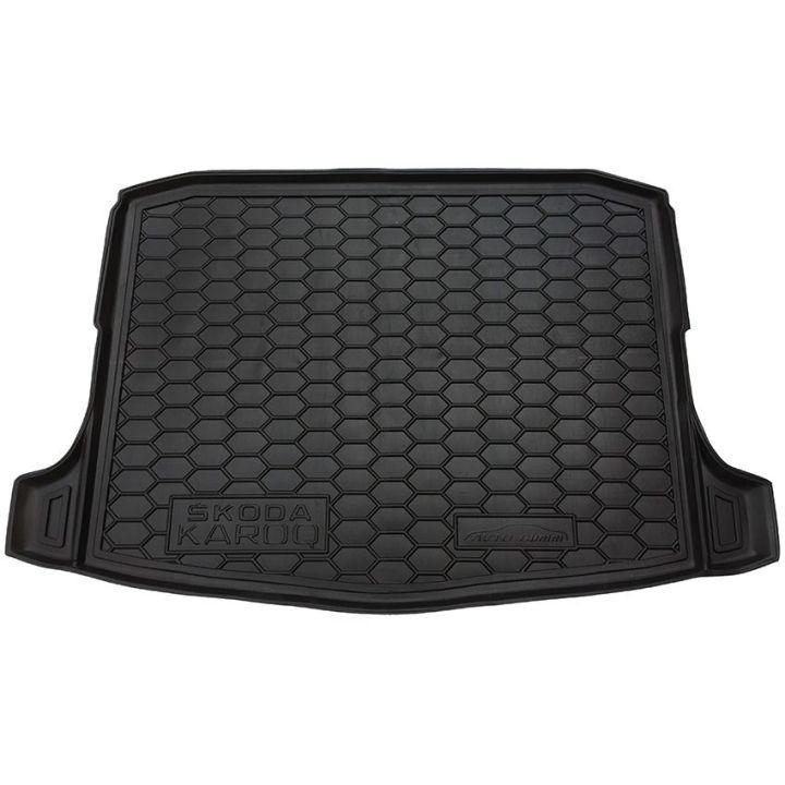 Коврик в багажник для Skoda Karoq '18-, нижний, полиуретановый (AVTO-Gumm)