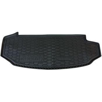 Коврик в багажник для Skoda Kodiaq с 2017, 7 мест, короткий, полиуретановый (AVTO-Gumm)
