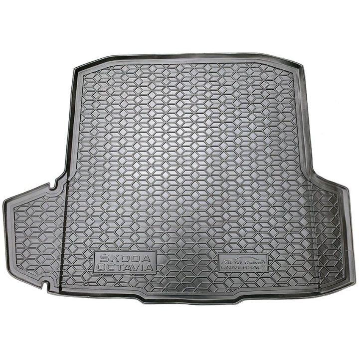 Коврик в багажник для Skoda Octavia A7 '13- лифтбэк без бокса усилителя, полиуретановый (AVTO-Gumm)