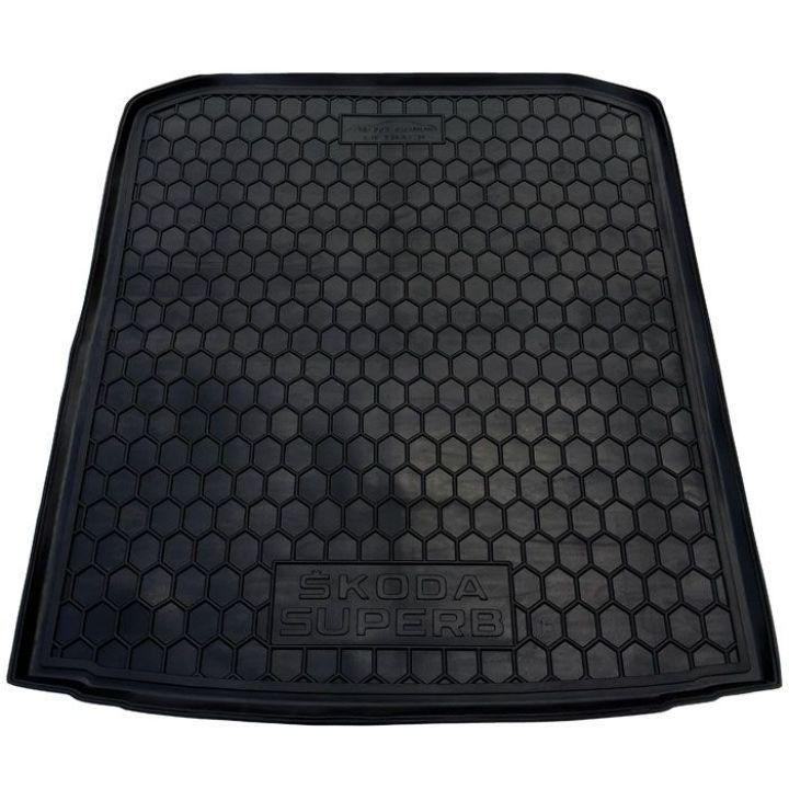 Коврик в багажник для Skoda Superb '15- лифтбэк, полиуретановый (AVTO-Gumm)