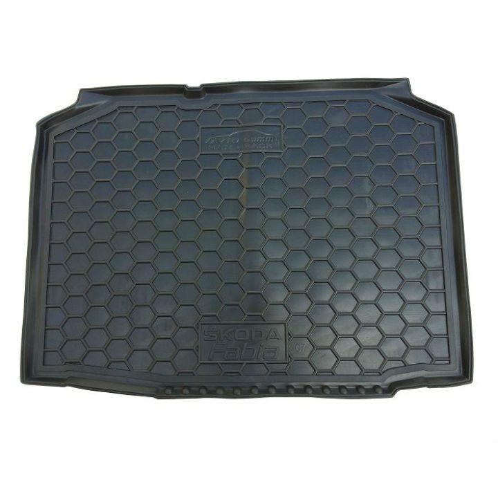 Коврик в багажник для Skoda Fabia II '07-14 хетчбэк, полиуретановый (AVTO-Gumm)