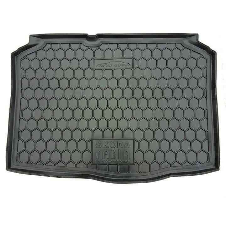 Коврик в багажник для Skoda Fabia '99-07 хетчбэк, полиуретановый (AVTO-Gumm)
