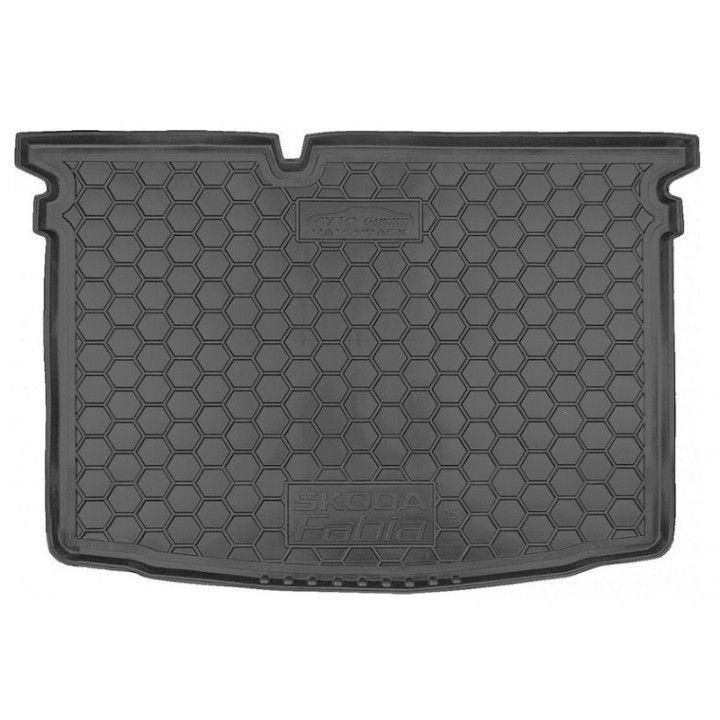 Коврик в багажник для Skoda Fabia III '15- хетчбэк, полиуретановый (AVTO-Gumm)