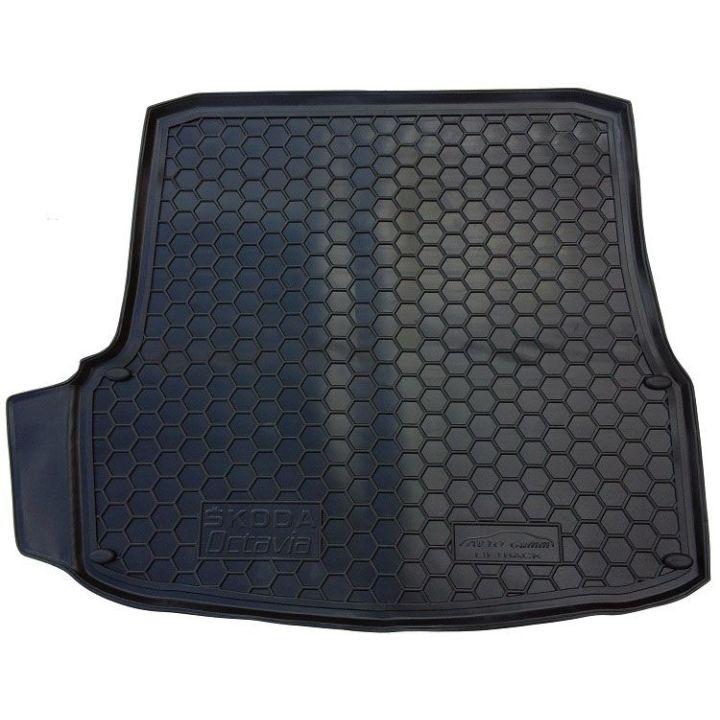 Коврик в багажник для Skoda Octavia A5 '05-13 лифтбэк, полиуретановый (AVTO-Gumm)