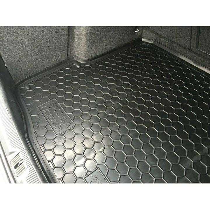 Коврик в багажник для Skoda Octavia A5 '05-13 универсал, полиуретановый (AVTO-Gumm)