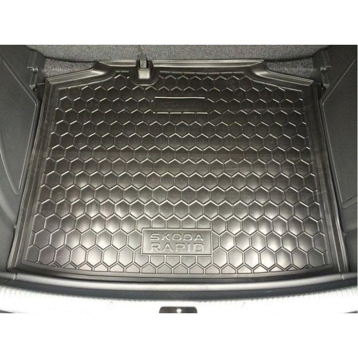 Коврик в багажник для Skoda Rapid '13- спейсбэк, полиуретановый (AVTO-Gumm)