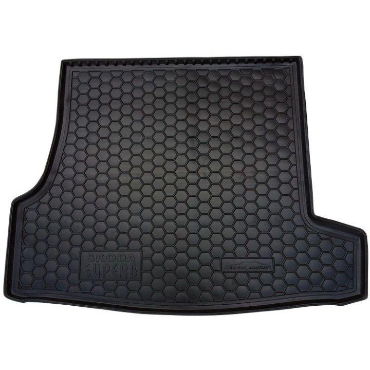 Коврик в багажник для Skoda Superb '02-08, полиуретановый (AVTO-Gumm)