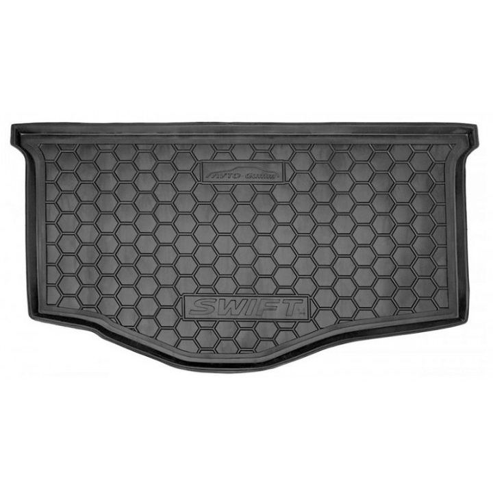 Коврик в багажник для Suzuki Swift 2012-, полиуретановый (AVTO-Gumm)