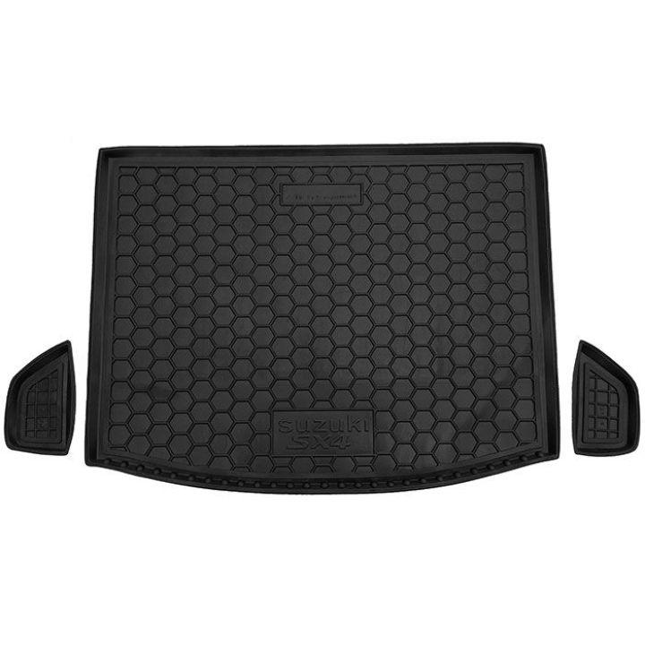 Коврик в багажник для Suzuki SX-4 2014- верхняя полка, полиуретановый (AVTO-Gumm)