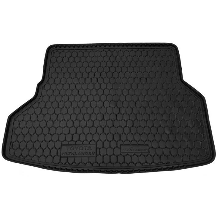 Коврик в багажник для Toyota Highlander 2008- 7 мест, полиуретановый (AVTO-Gumm)