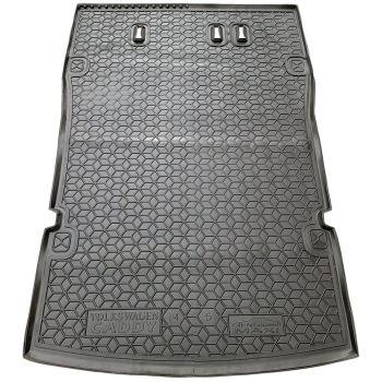 Коврик в багажник для Volkswagen Caddy Maxi '04-15, 5 мест, полиуретановый (AVTO-Gumm)
