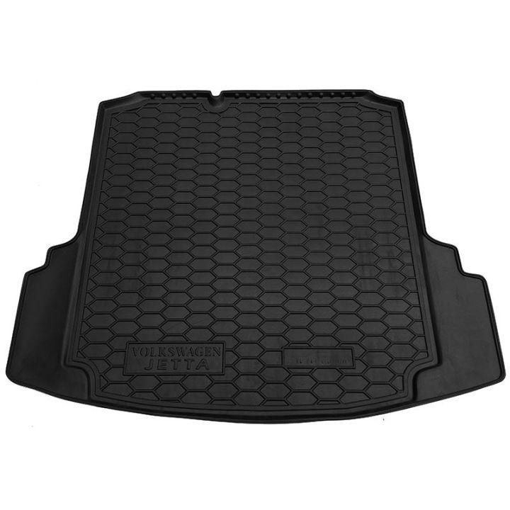 """Коврик в багажник для Volkswagen Jetta VI '10-, коврик с """"ушами"""", полиуретановый (AVTO-Gumm)"""
