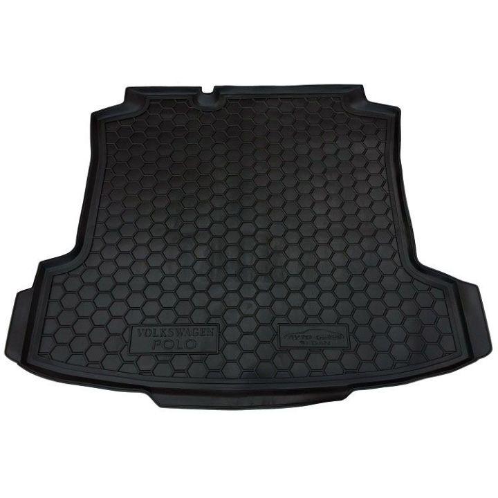 Коврик в багажник для Volkswagen Polo '10- седан, полиуретановый (AVTO-Gumm)