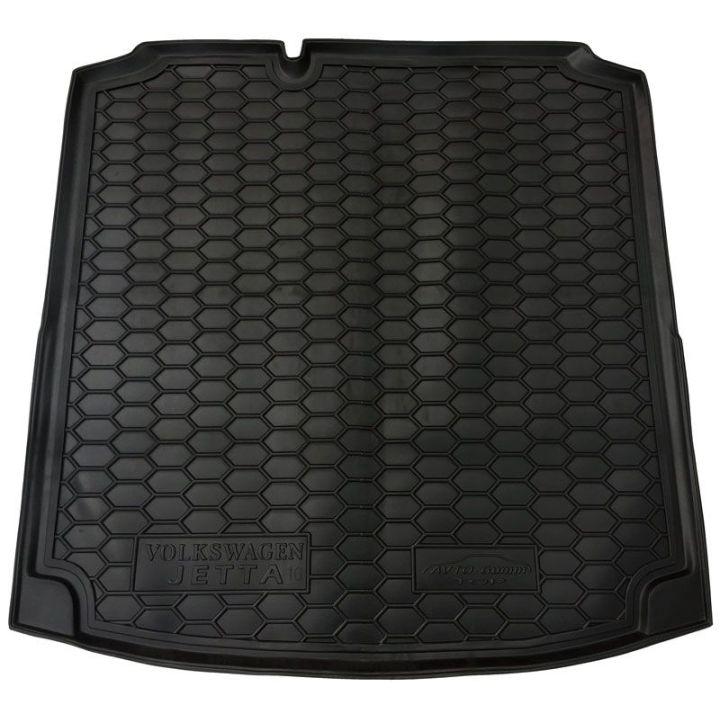 Коврик в багажник для Volkswagen Jetta VI '10-, коврик прямоугольный, полиуретановый (AVTO-Gumm)