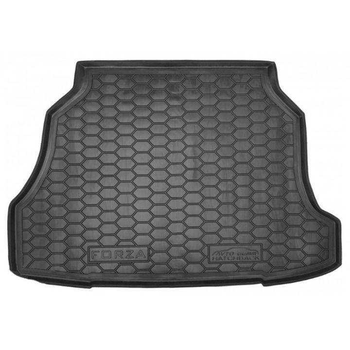 Коврик в багажник для ЗАЗ (Zaz) Forza / Chery A13 '11- хетчбэк, полиуретановый (AVTO-Gumm)