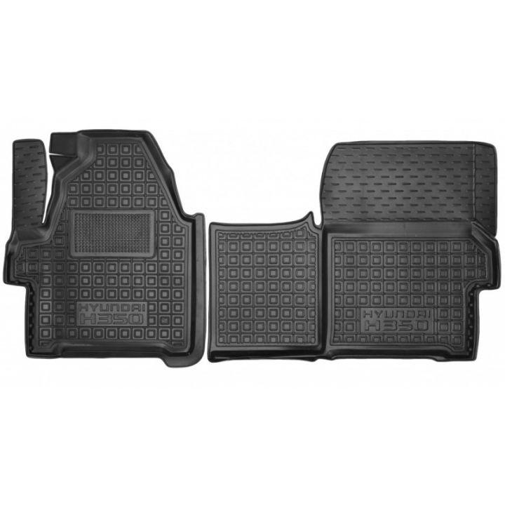 Коврики в салон для Hyundai H350 (2014>) (1+1), резиновые (AVTO-Gumm)