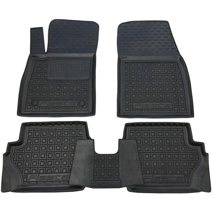 Коврики в салон для Ford Fiesta '18- резиновые, (AVTO-Gumm)