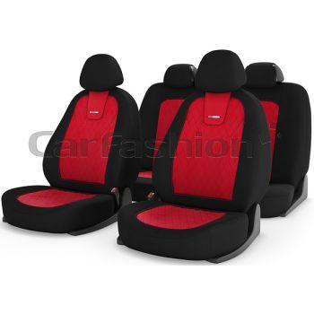 Универсальные чехлы на сиденья Colombo, красный / черный / красный (CarFashion)