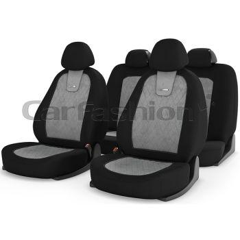 Универсальные чехлы на сиденья Colombo, св. серый / черный / св. серый (CarFashion)