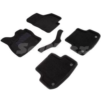 Коврики в салон 3d для Audi A3 (8V) '12-, черные текстильные, (Seintex)