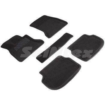 Коврики в салон 3d для BMW 5 F10 / 11 '10-13, черные текстильные, (Seintex)