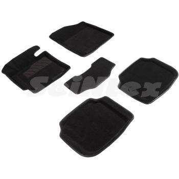Коврики в салон 3d для Hyundai Elantra MD '11-15, черные текстильные, (Seintex)