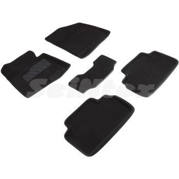 Коврики в салон 3d для Kia Ceed '12-18, черные текстильные, (Seintex)