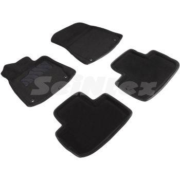 Коврики в салон 3d для Lexus IS '13-, черные текстильные, (Seintex)
