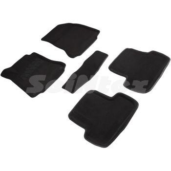 Коврики в салон 3d для Mercedes A-Class W176 '12-18, черные текстильные, (Seintex)
