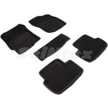 Коврики в салон 3d для Mitsubishi Lancer X (10), Evo X, Sb '07-, черные текстильные, (Seintex)
