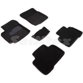 Коврики в салон 3d для Suzuki Grand Vitara '06-, черные текстильные, (Seintex)