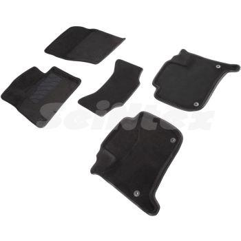 Коврики в салон 3d для Porsche Cayenne '10-17, черные текстильные, (Seintex)