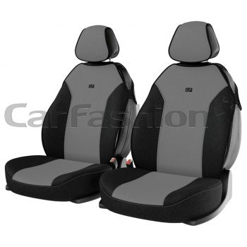 """Чехлы (майки) """"BINGO FRONT"""" на передние сиденья, серый/черный/серый (CarFashion)"""