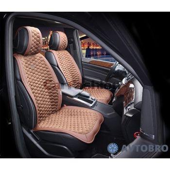 Накидки на передние сидения CAPRI коричневый/коричневый CarFashion