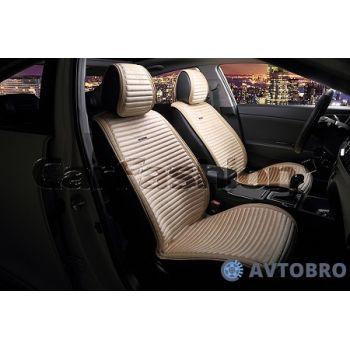 Накидки на передние сидения Monaco бежевый/бежевый CarFashion