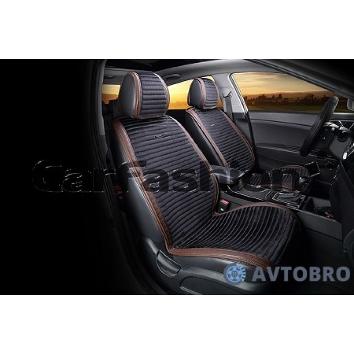 Накидки на передние сидения Monaco черный/коричневый CarFashion