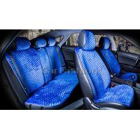 Накидки на сиденья City plus синий / синий CarFashion