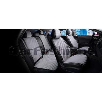 Накидки на сидения Monaco plus серый/черный CarFashion