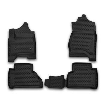 Коврики 3D в салон для Cadillac Escalade '14-, полиуретановые Element-Novline