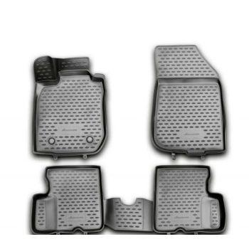Коврики 3D в салон для Renault Duster '10-18, полиуретановые Element-Novline