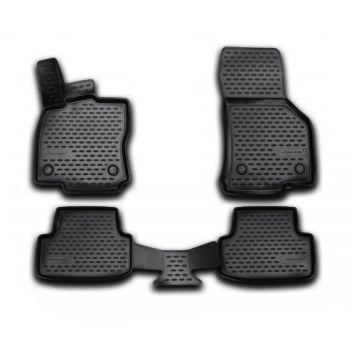 Коврики 3D в салон для Volkswagen Golf VII '12-20, полиуретановые Element-Novline