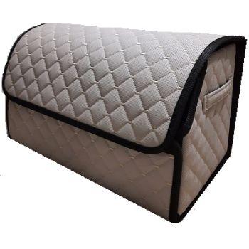 Органайзер - сумка в багажник из экокожи, L, бежевый (Пилот)