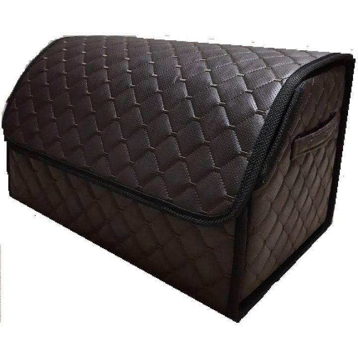 Органайзер - сумка в багажник из экокожи, L, коричневый (Пилот)