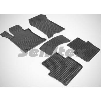 Коврики в салон для Acura TLX '14-20 резиновые, черные (Seintex)