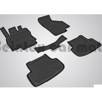 Коврики в салон для Audi A3 (8V) '12- резиновые, черные (Seintex)