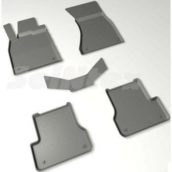Коврики в салон для Audi A6 (C7) '11-18 резиновые, черные (Seintex)