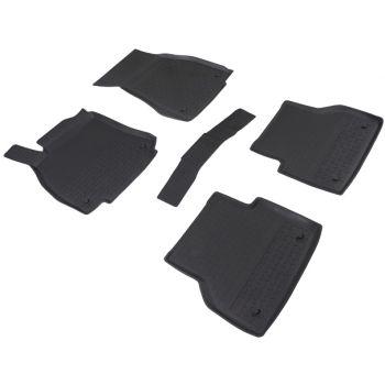 Коврики в салон для Audi A6 (C8) '18- резиновые, черные (Seintex)