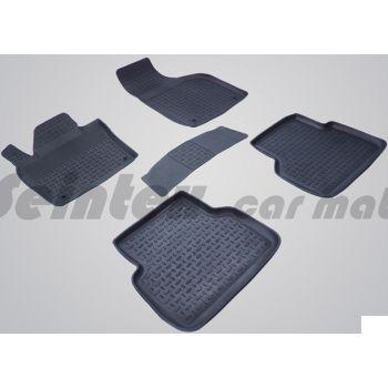 Коврики в салон для Audi Q3 '11-18 резиновые, черные (Seintex)